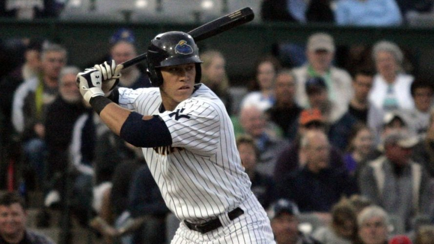 Aaron Judge celebrated his 23rd birthday by helping the Trenton Thunder to a series split. (Jessica Kovalcin)