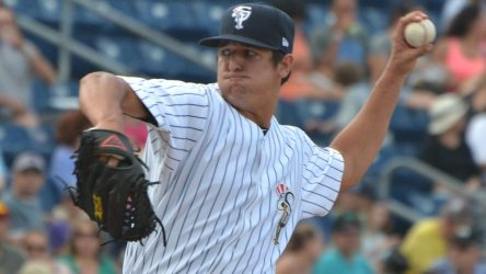 Caleb Smith recorded 11 strikeouts and six scoreless innings for Trenton Friday night.. (Robert M Pimpsner)