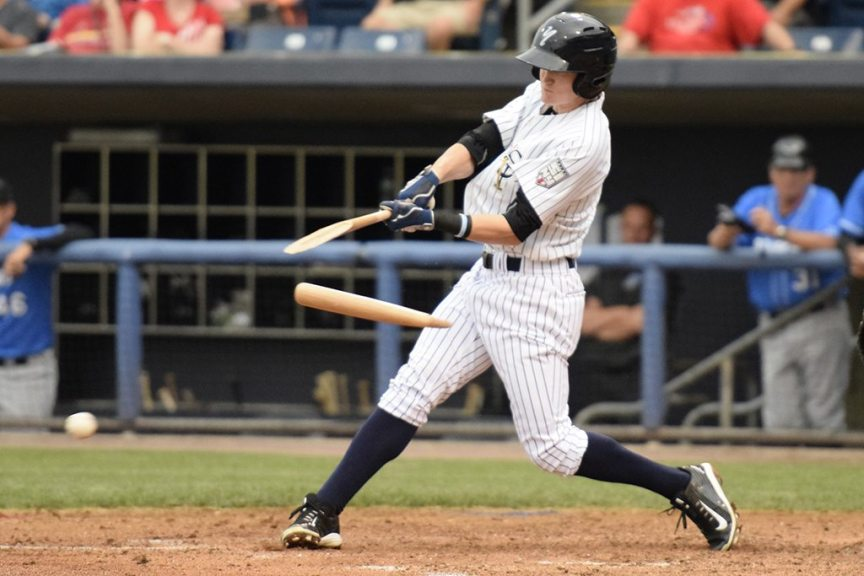 Yankees first round pick Kyle Holder working on finding consistency at the plate (Robert M Pimpsner)