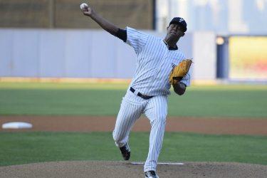 Domingo Acevedo was solid yet again for Staten Island (Robert M Pimpsner)
