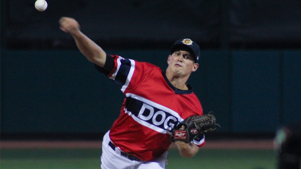 Joey Maher pitching for the Charleston RiverDogs (© Wickedgood | Dreamstime.com)