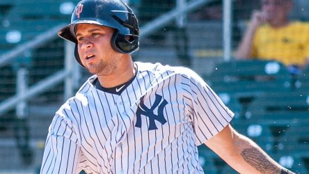 "Gary Sanchez in the Arizona Fall League ( Ryan ""Moose"" Morris - Freelance Photographer)"