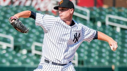 Tyler Webb was effective as a starter for the RailRiders Saturday night. (Photo by Moose Morris)