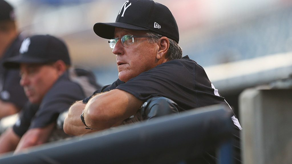 Dave Bialas as the Tampa Yankees field manager during the 2015 season.  (© Mark LoMoglio/Yankees)