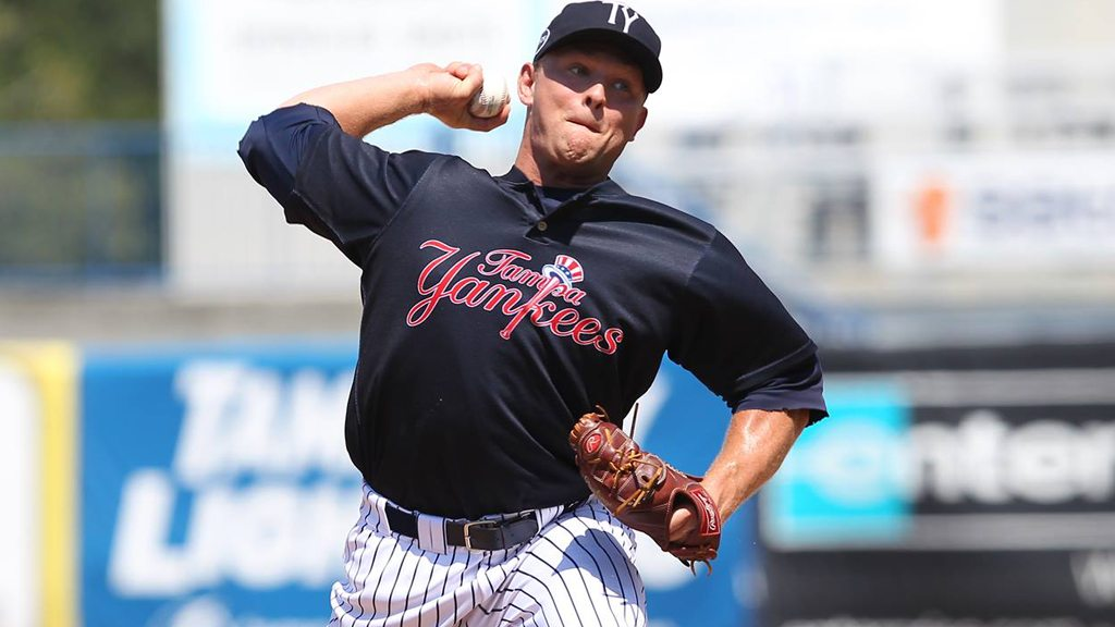 Chance Adams will get the chance to start in 2016 (© Mark LoMoglio/Yankees)