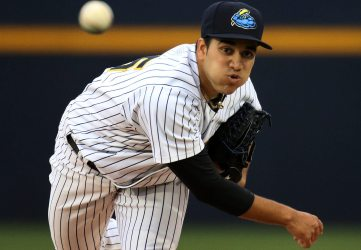 Ronald Herrera pitched 8 no-hit innings to earn the victory. (Martin Griff)