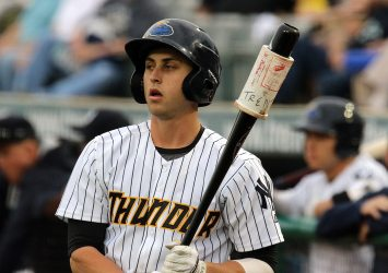 Outfielder Dustin Fowler helped ignite the Trenton offense in Erie Friday night (Photo by Martin Griff)