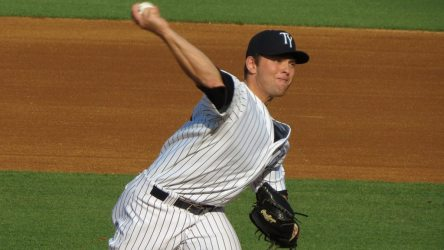 Chance Adams notched his third Double-A win Wednesday night. (Photo by Bryan Green)