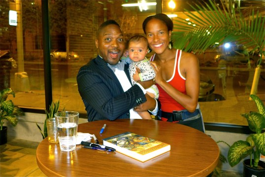 Lucky baby. Kira has gotten to meet Angela Davis and Bryant Terry within several months of being born. :-)