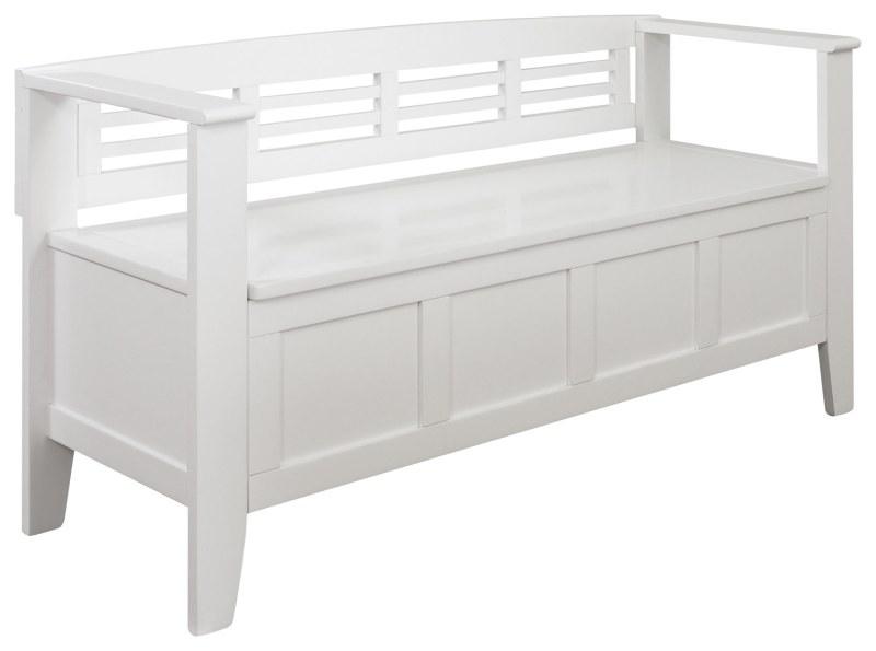 Large Of White Storage Bench