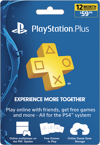 Sony PlayStation Plus 12 Month Membership SONY PS PLUS 12 MONTH $59.99 - Best Buy