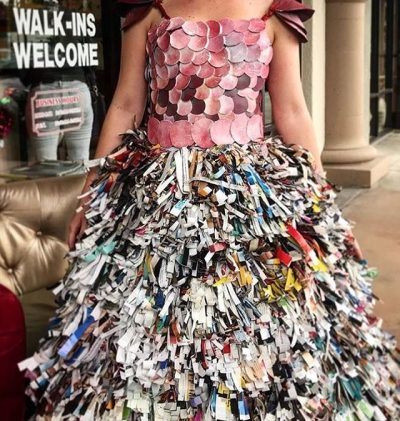 Trashion Fashion was a success! The Pistachio team built this year's dress using recycled ...