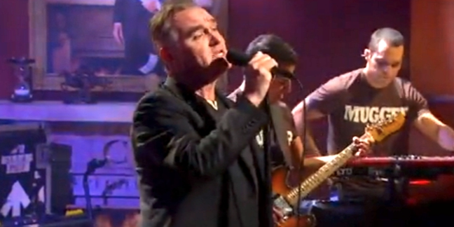 Watch: Morrissey Disses the Royal Family, Denies a Smiths Reunion, and Performs Live on &quot;Colbert&quot;