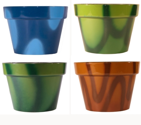 Recycled Graffiti Plant Pots from Terracycle