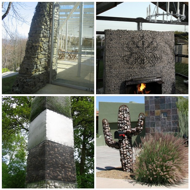 Garden features made with Gabions by www.pithandvigor.com