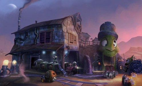 Epic Mickey 2 Concept Art - Train Station