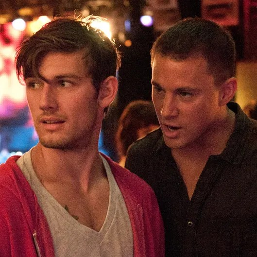 Channing Tatum Hated His Magic Mike Co Star    Vulture  L r  ALEX PETTYFER as Adam The Kid and CHANNING TATUM as Mike in