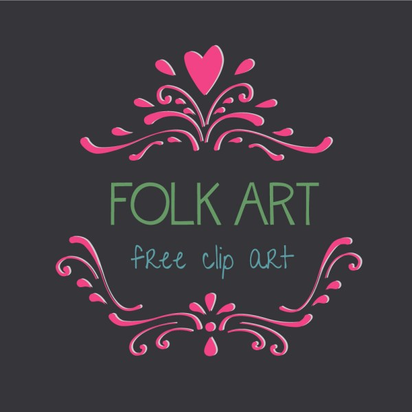 Royalty Free Images of Folk Art Hearts