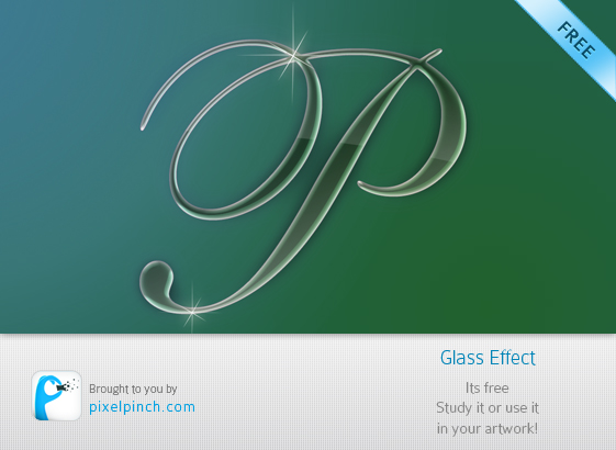 Folder1 Glass Effect Text   Layered PSD File for Free