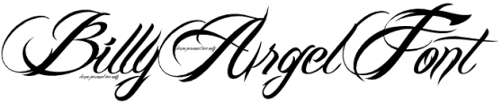 billy argel font0 10 Most Popular Script & Calligraphy Fonts