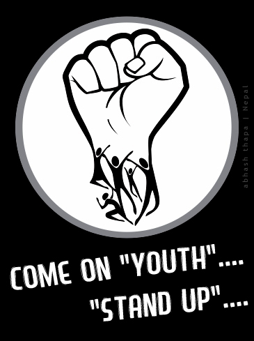 FISTforFB Peaceful demonstration by youth   Nepal