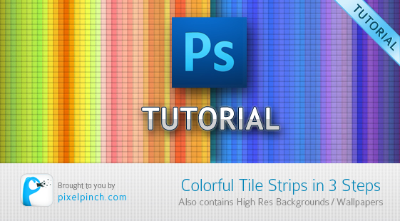 Colorful Tile Strips in 3 Steps