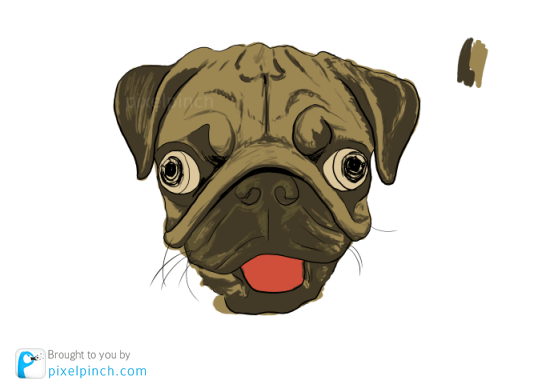 Step 4 Digital Art Dog Pug PixelPinch Digital Coloring Tutorial using Corel Painter & Tablet