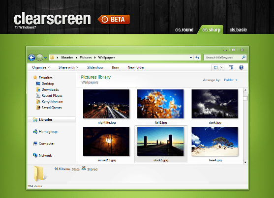 Clearscreen_Sharp_for_Windows7_by_K_Johnson