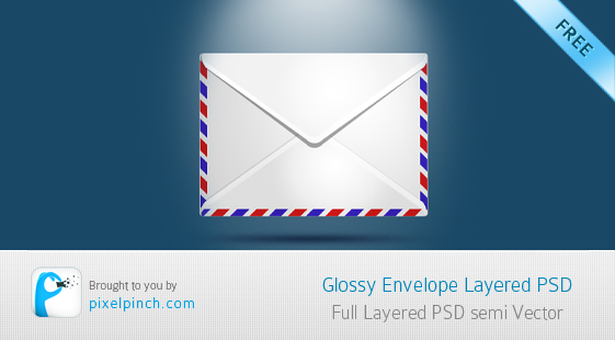 Glossy Envelope Glossy Envelop   Layered PSD for Free