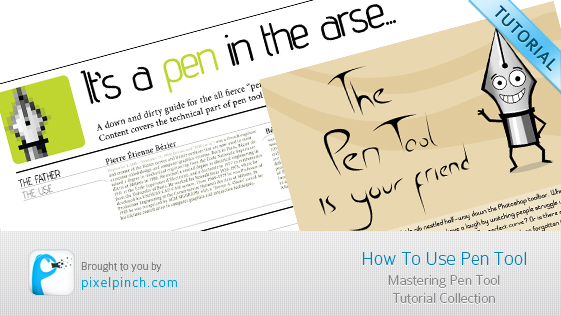 How to use pen tool banner
