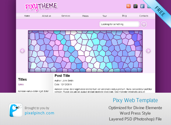 Pixy PSD WEB TEMEPLATE Theme banner
