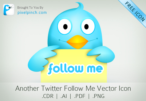 TwitterFollowMe Vector Icon