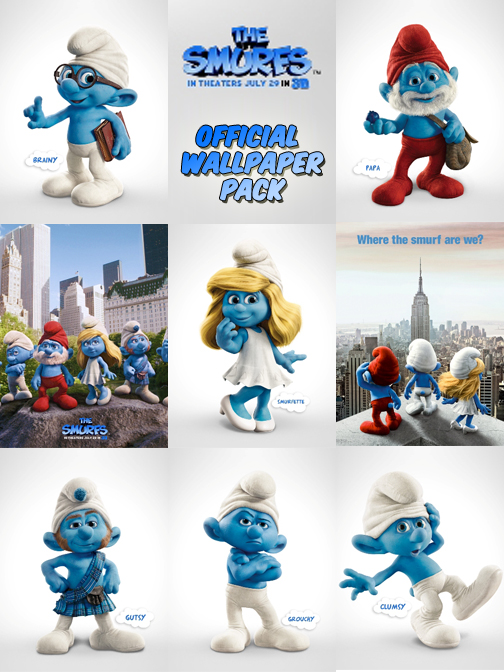official wallpaper pack smurf movie