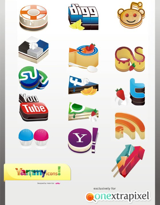 yammyed yummy cake social media icons