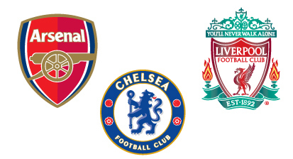 Arsenal, Chelsea & Liverpool Football Club Free Vector Logos