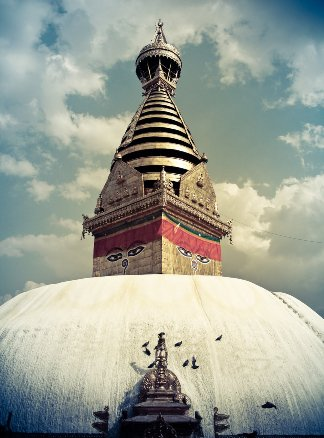 swayambhunath stupa by manipad d2tfjxz 7 UNESCO Listed Heritage Sites of Nepal (within Kathmandu Valley)
