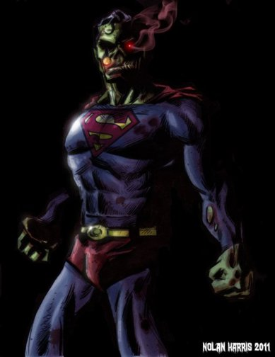 zombie superman by nolanium d3augak 20 Fresh, Best & Scary Halloween Artworks Of Year 2011