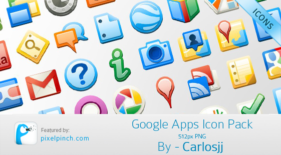 Google app icons Google Apps Icon Pack   512px PNG