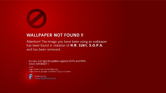 Wallpaper Not Found Say No To SOPA 1350x760 PixelPinch