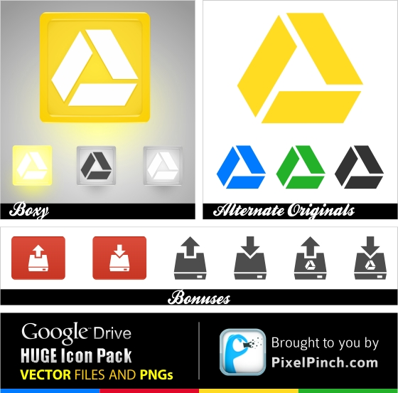 Google Drive Huge Icon Pack Free 2 New Google Drive Free Vector and PNG Icon Pack 2012