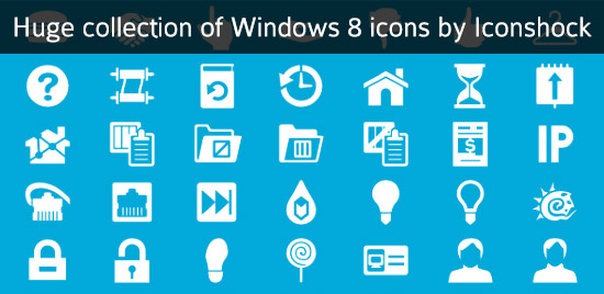 windows8 icons Huge collection of Windows 8 icons by Iconshock