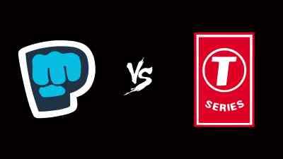 PewDiePie Logo Vs T-Series Logo UHD 4K Wallpaper | Pixelz