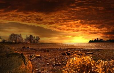 Free picture: sunset, dawn, dusk, water, sun, landscape, sky, horizon