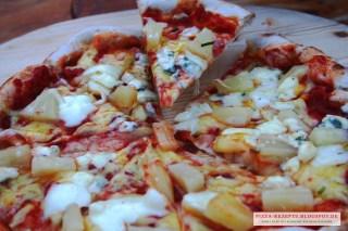 Pizza Blue Hawaii vegetarisch
