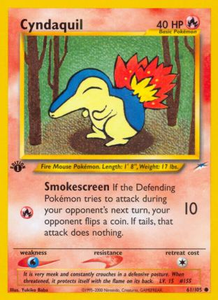 Cyndaquil from Neo Destiny