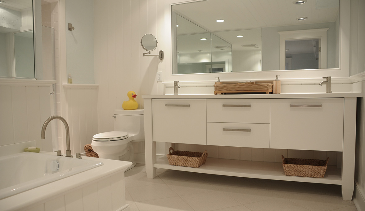 Multipurpose Bathroom Cabinets Create Clean Lines Plain Cabinetry Plain Sale Plain Cabinet Hinges Cabinets houzz-03 Plain And Fancy Cabinets