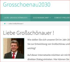 Grusswort von Bürgermeister Peuker, Gemeinde Großschönau