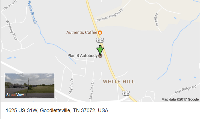 Map Hendersonville collision car repair shop