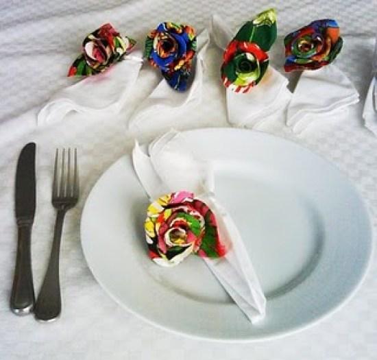 Casamento de festa junina: Porta guardanapo de chita