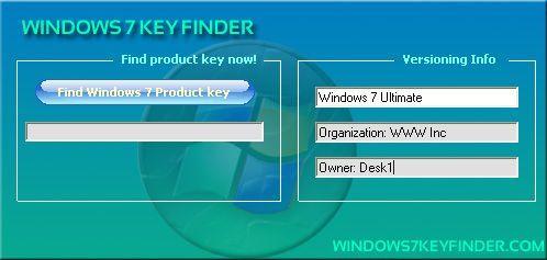 Windows 7 Key Finder, extraer la clave de licencia de Windows 7